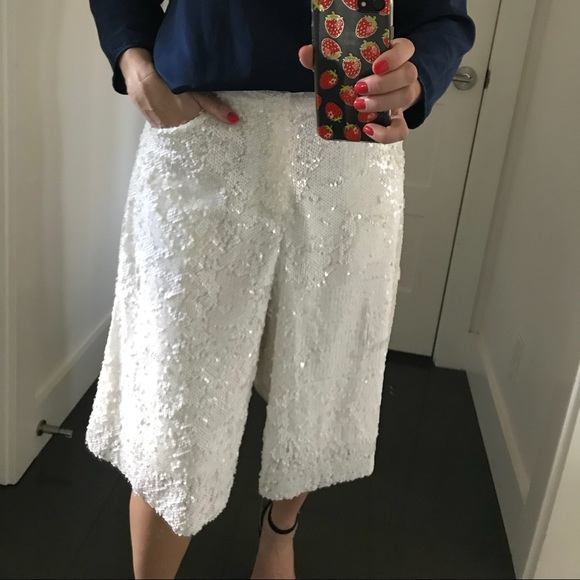 1a08c087 Zara Pants | New Sequined Culottes | Poshmark